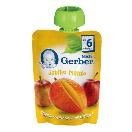 Гербер Бебешки Пауч ябълка и манго 90 гр.